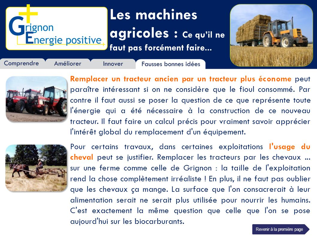 Les machines agricoles : Ce qu'il ne faut pas forcément faire...