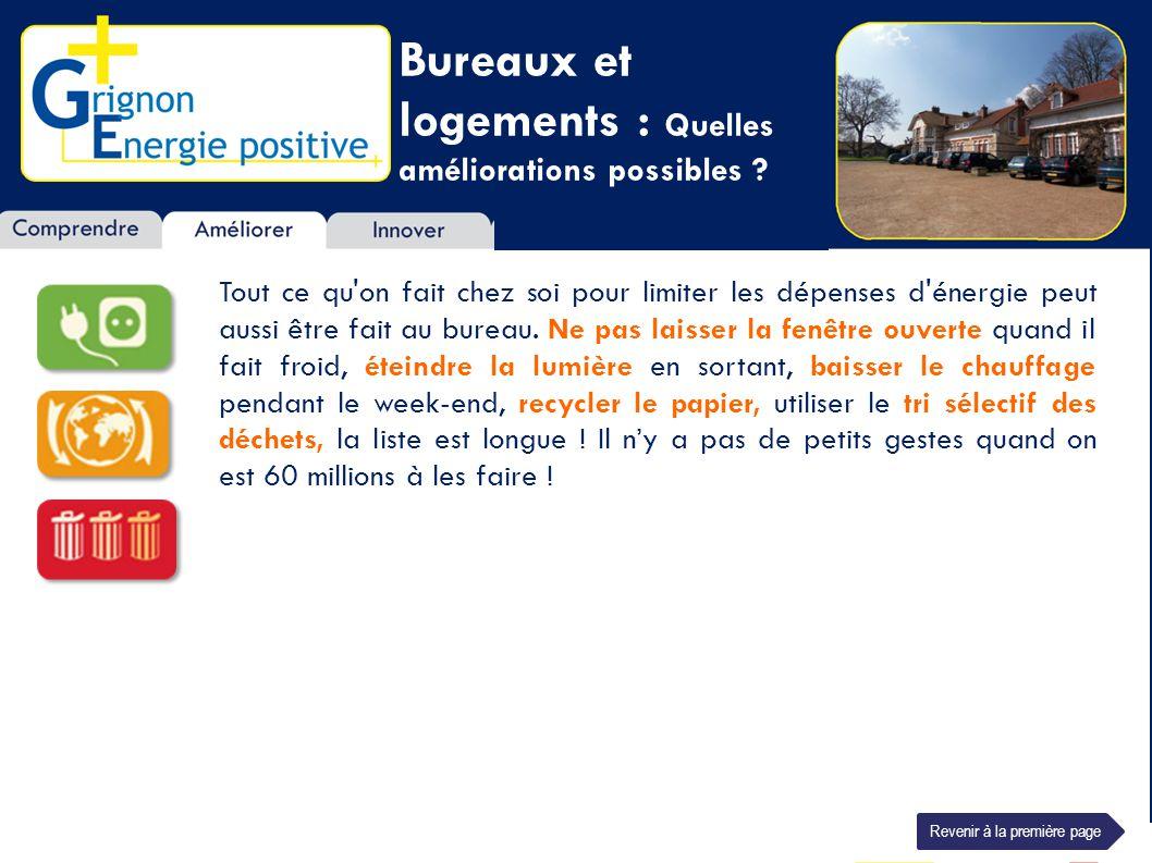 Bureaux et logements : Quelles améliorations possibles