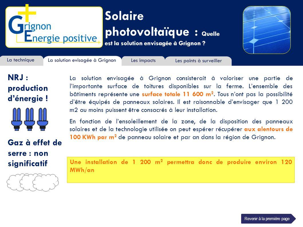 Solaire photovoltaïque : Quelle est la solution envisagée à Grignon