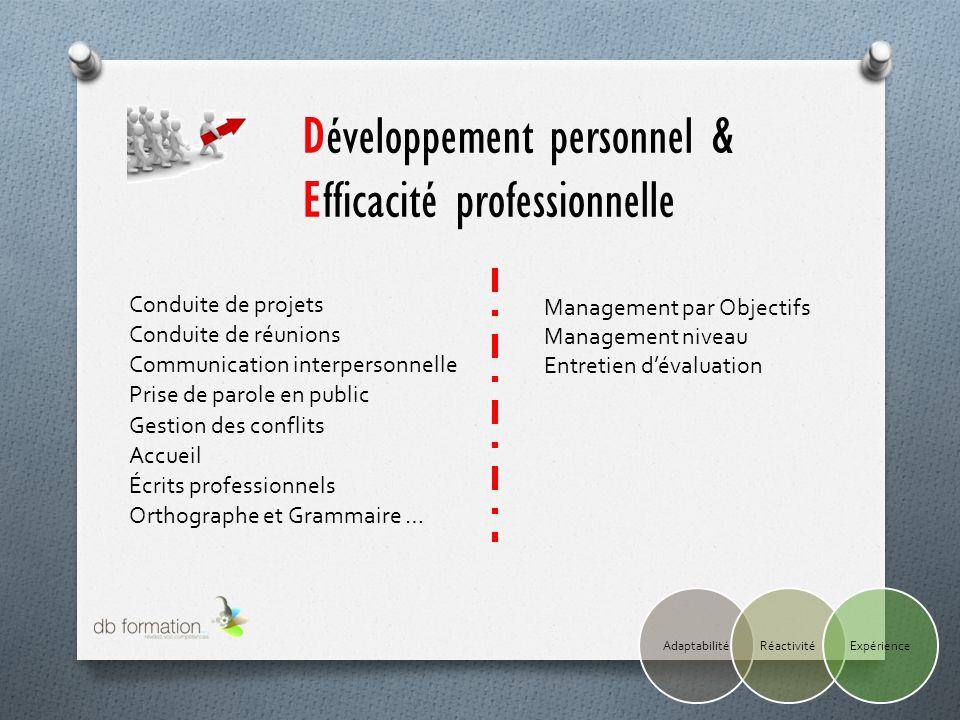 Développement personnel & Efficacité professionnelle