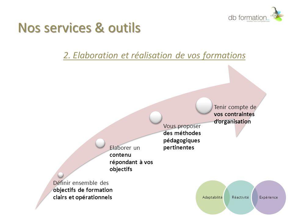 2. Elaboration et réalisation de vos formations