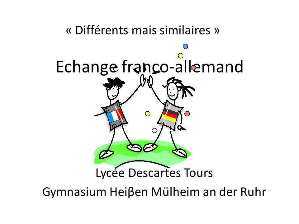 Echange franco-allemand