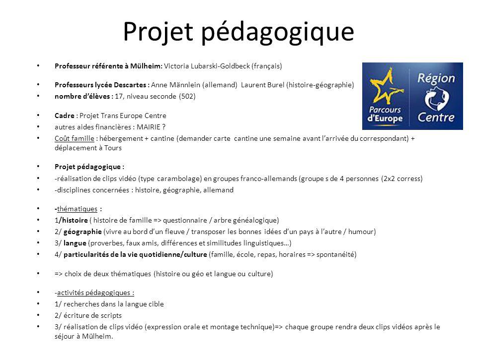 Projet pédagogique Professeur référente à Mülheim: Victoria Lubarski-Goldbeck (français)
