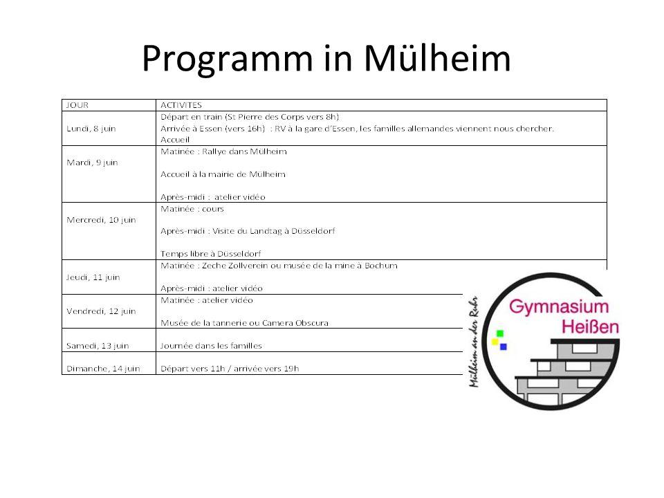 Programm in Mülheim