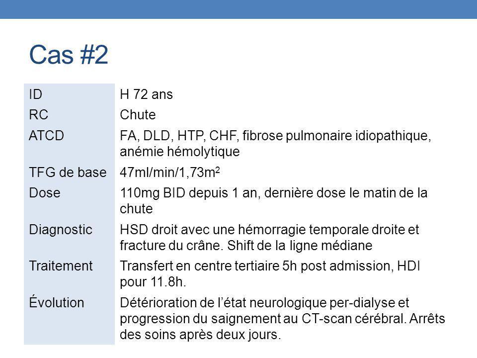 Cas #2 ID H 72 ans RC Chute ATCD