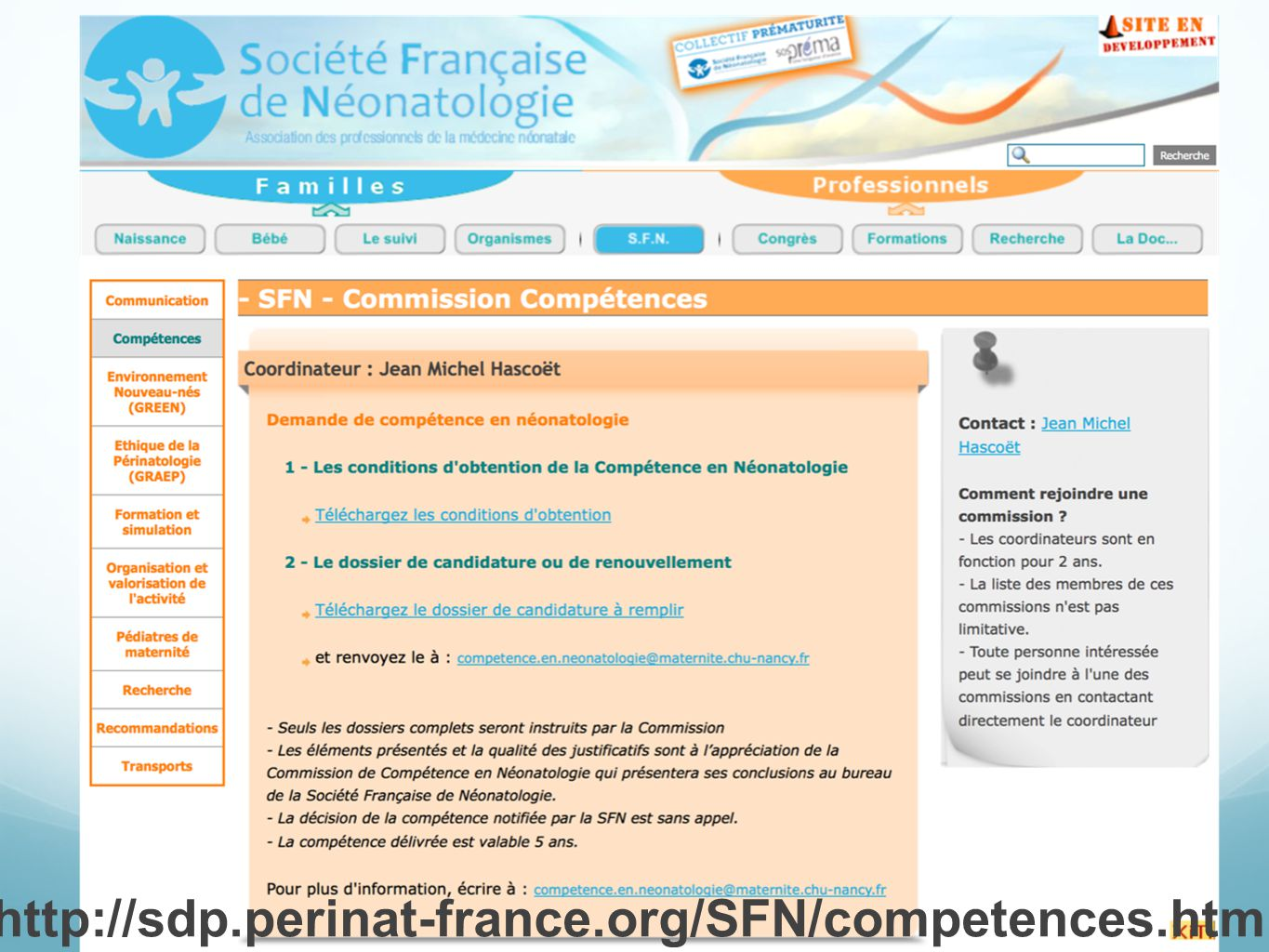 http://sdp.perinat-france.org/SFN/competences.html