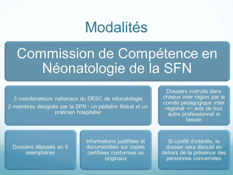 Modalités Commission de Compétence en Néonatologie de la SFN