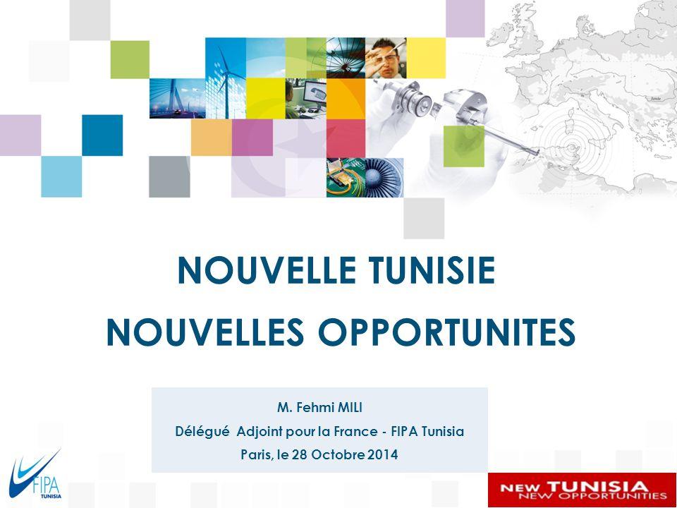 Délégué Adjoint pour la France - FIPA Tunisia