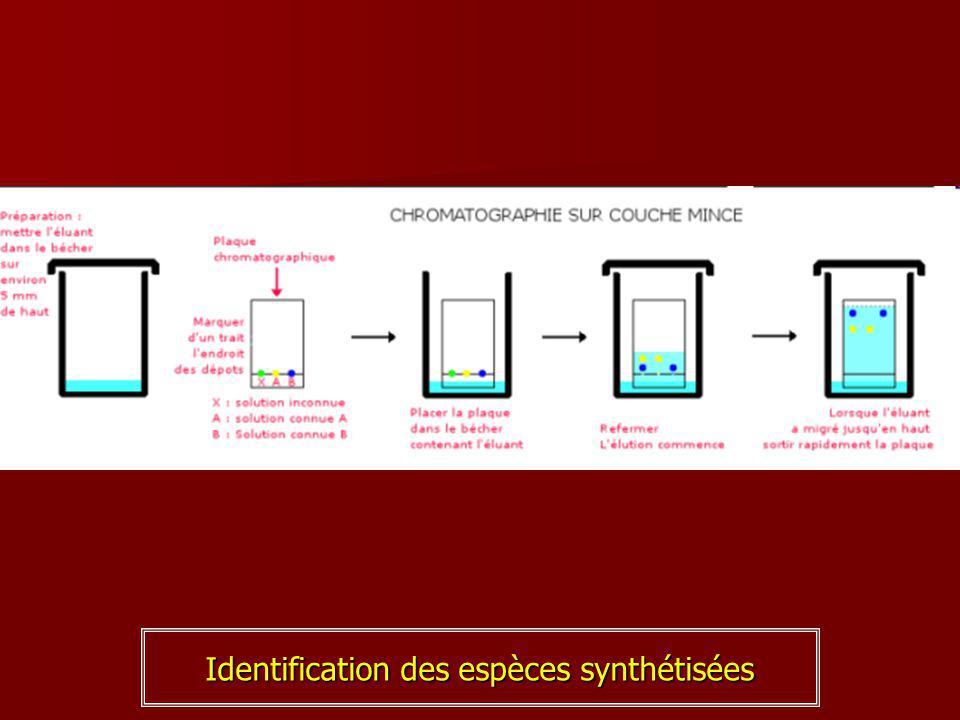 Identification des espèces synthétisées