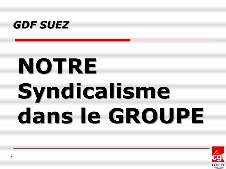 NOTRE Syndicalisme dans le GROUPE