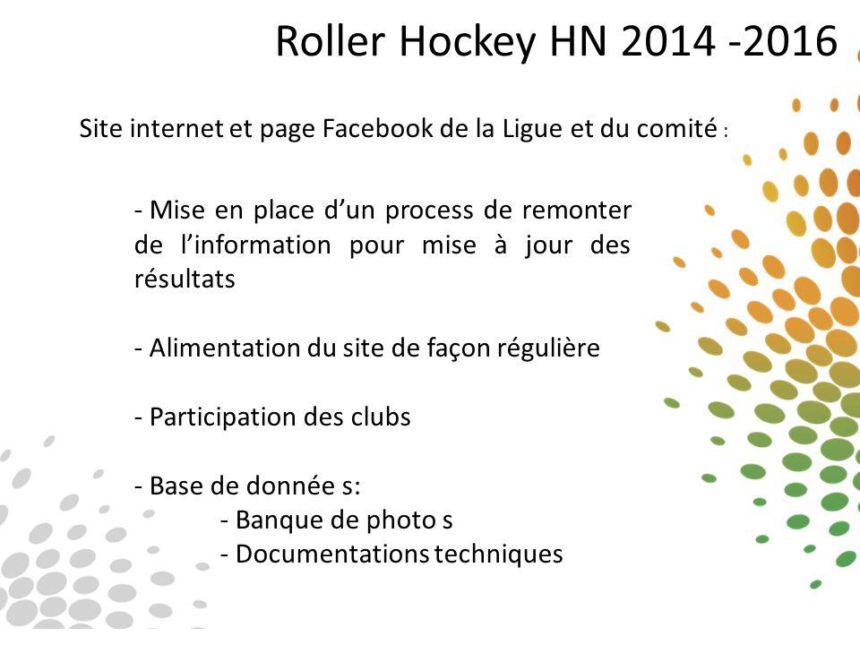 Roller Hockey HN 2014 -2016 Site internet et page Facebook de la Ligue et du comité :