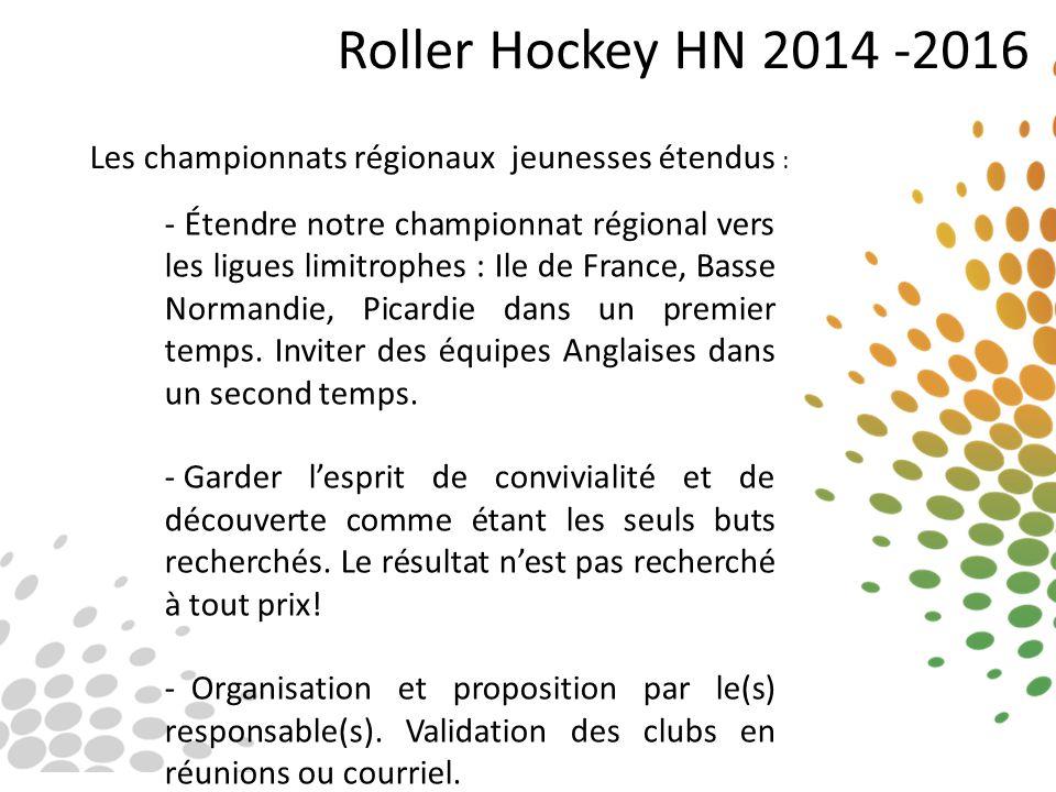 Roller Hockey HN 2014 -2016 Les championnats régionaux jeunesses étendus :