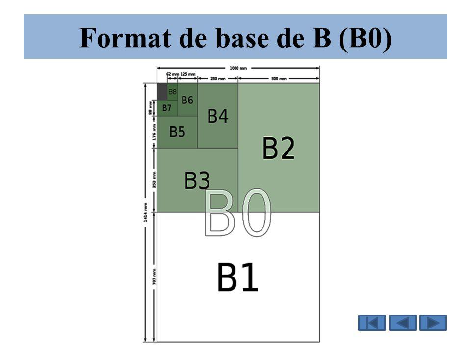 Format de base de B (B0)