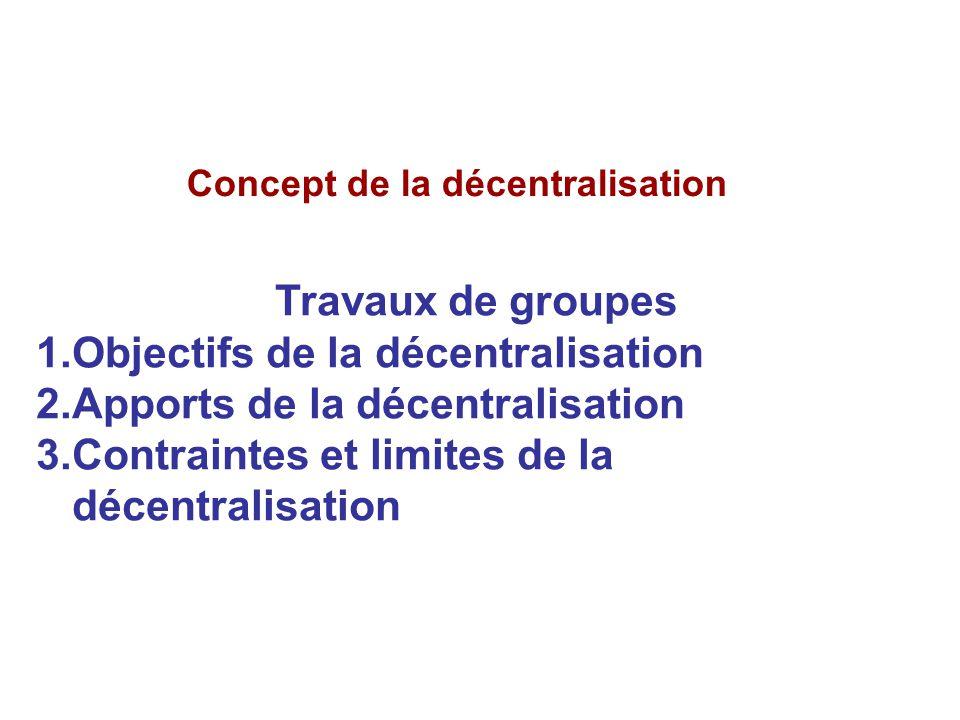 Concept de la décentralisation