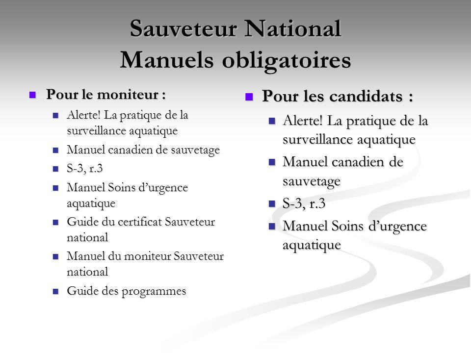 Sauveteur National Manuels obligatoires