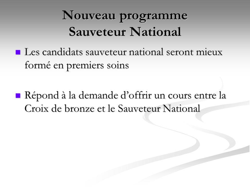 Nouveau programme Sauveteur National