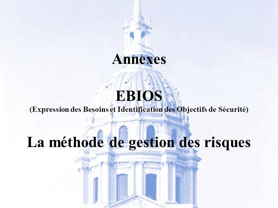 Annexes EBIOS La méthode de gestion des risques