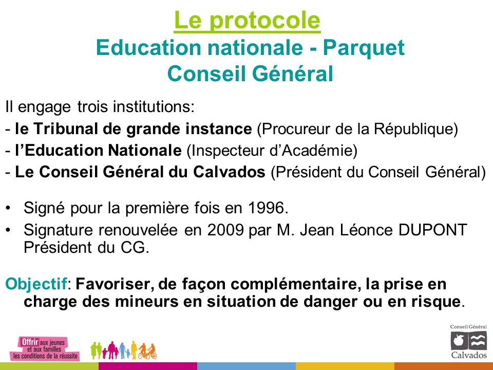 Le protocole Education nationale - Parquet Conseil Général