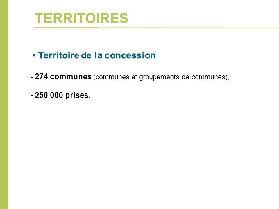 TERRITOIRES - 274 communes (communes et groupements de communes),
