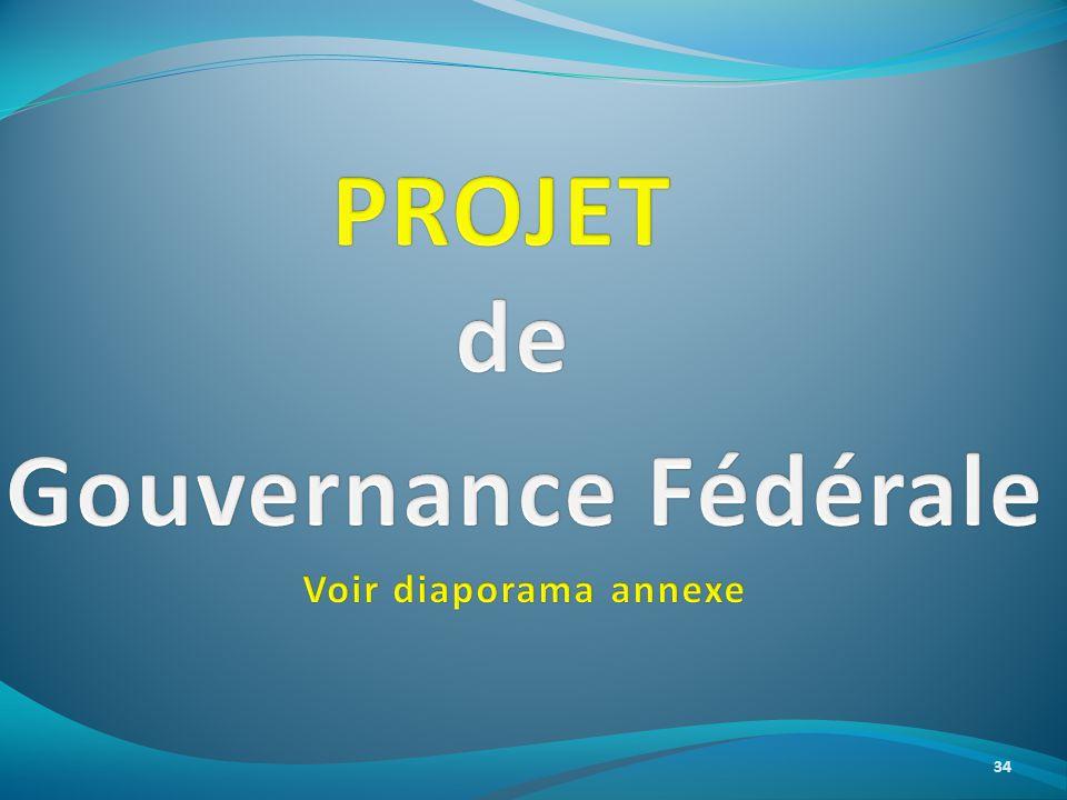 PROJET de Gouvernance Fédérale