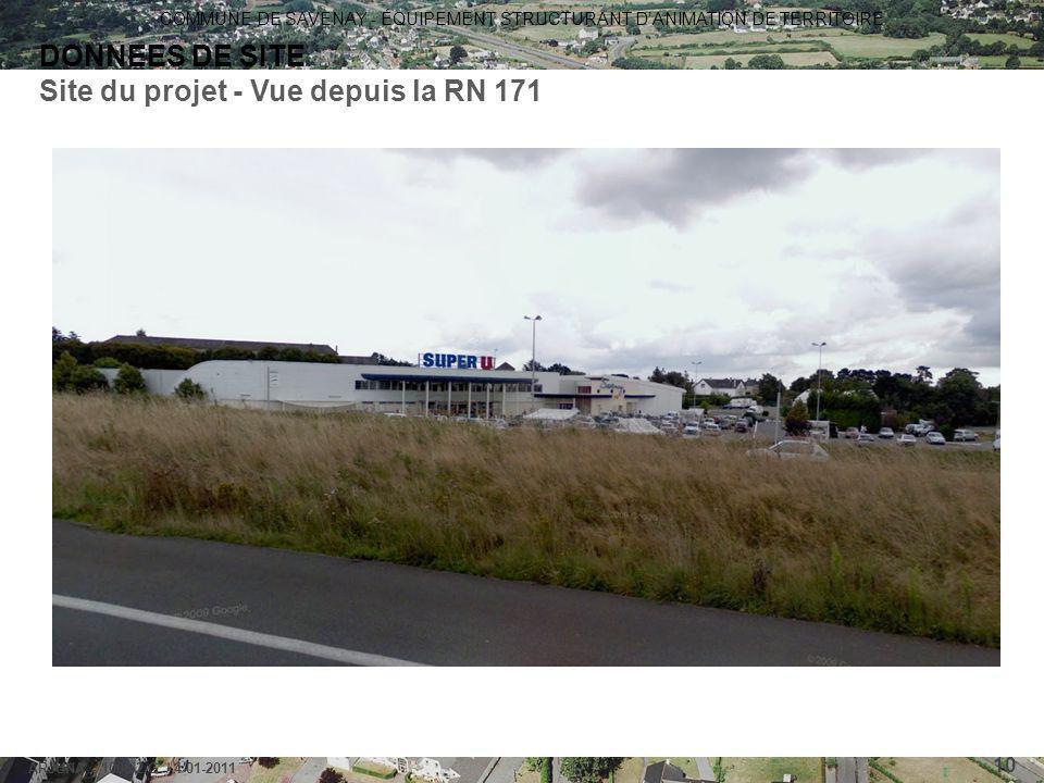 Site du projet - Vue depuis la RN 171
