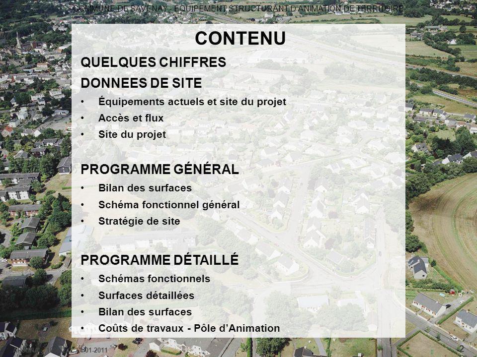CONTENU QUELQUES CHIFFRES DONNEES DE SITE PROGRAMME GÉNÉRAL