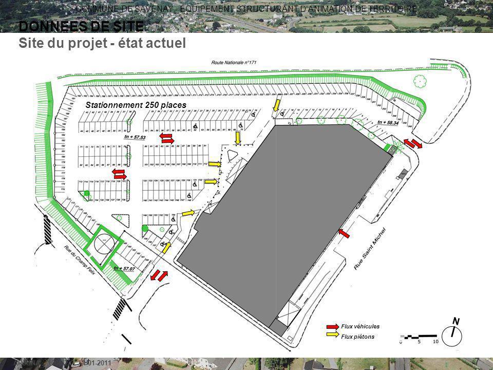 Site du projet - état actuel