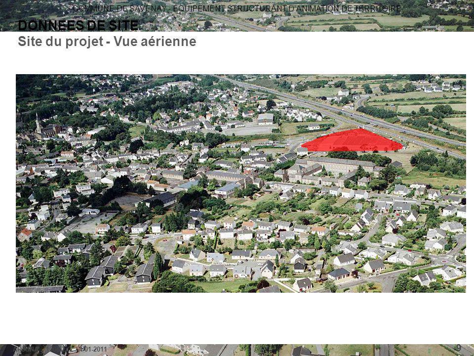 Site du projet - Vue aérienne