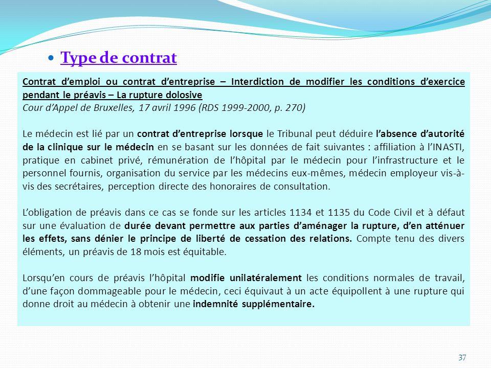 Type de contrat
