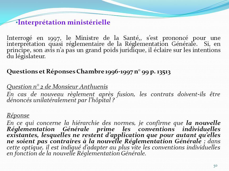 Interprétation ministérielle