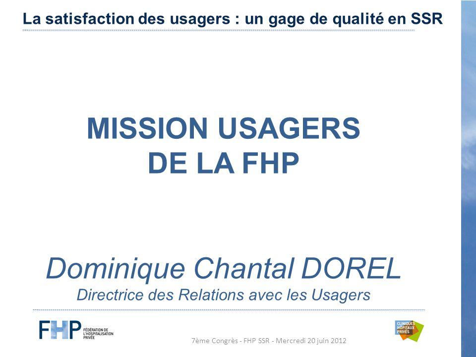 MISSION USAGERS DE LA FHP