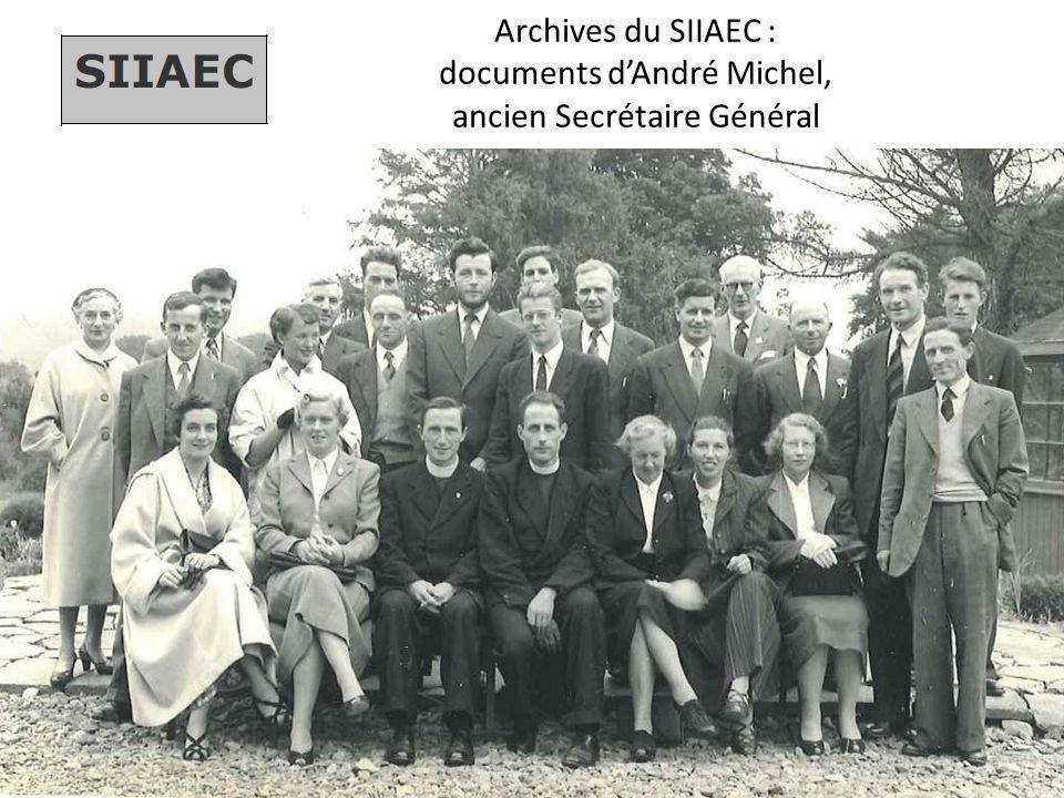 Archives du SIIAEC : documents d'André Michel, ancien Secrétaire Général
