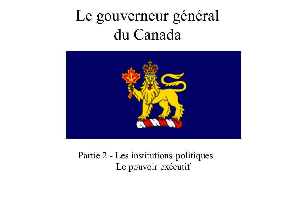 Le gouverneur général du Canada