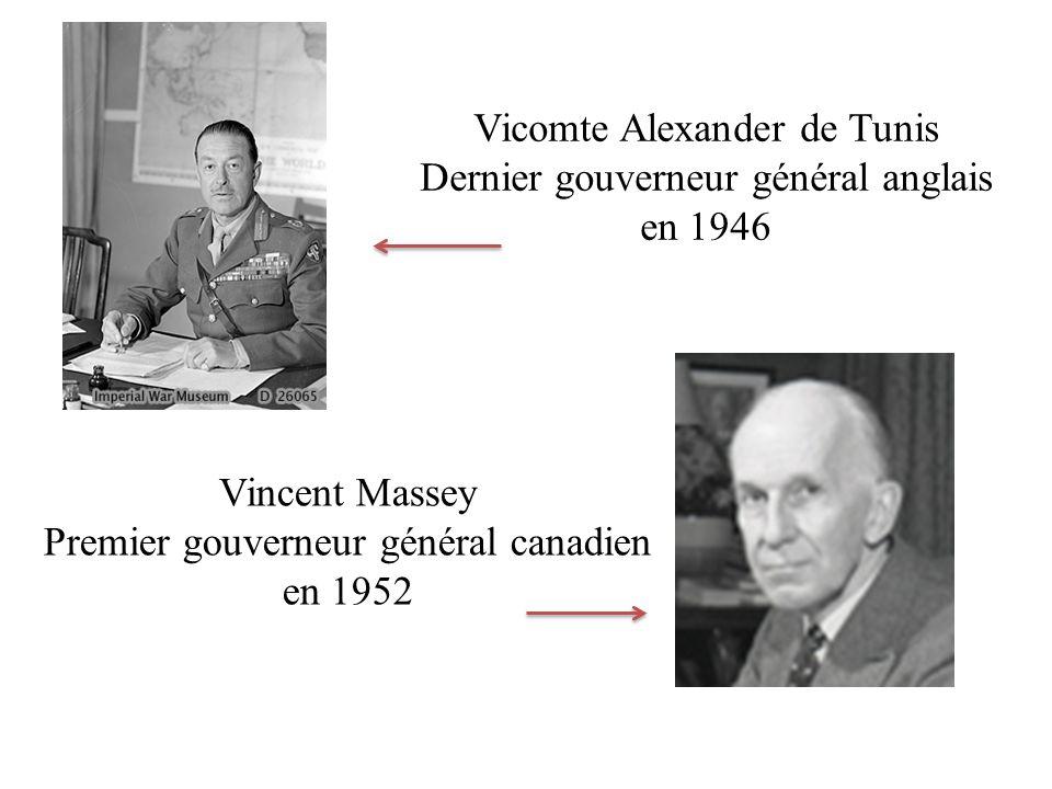 Vicomte Alexander de Tunis Dernier gouverneur général anglais en 1946