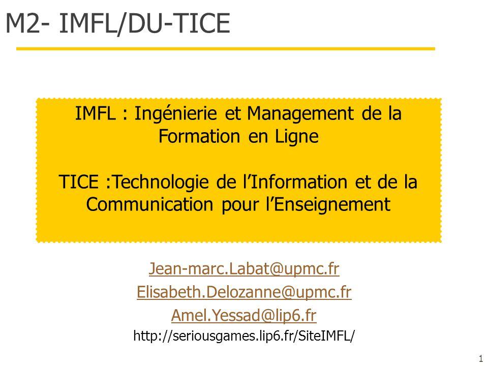 IMFL : Ingénierie et Management de la Formation en Ligne