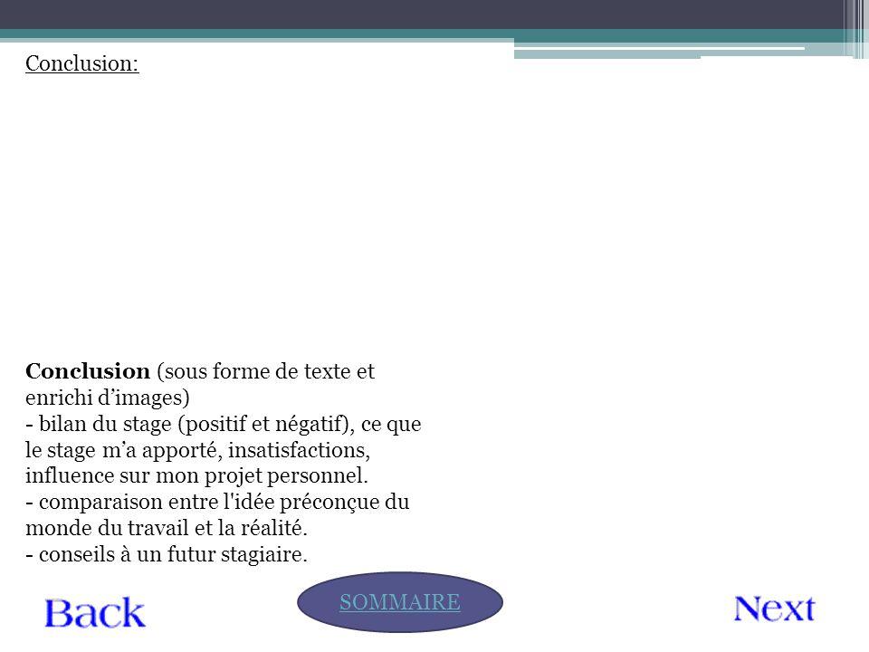 Conclusion: Conclusion (sous forme de texte et enrichi d'images)