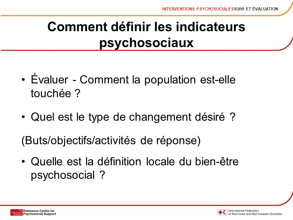 Comment définir les indicateurs psychosociaux