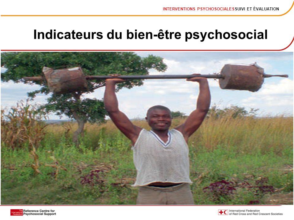 Indicateurs du bien-être psychosocial