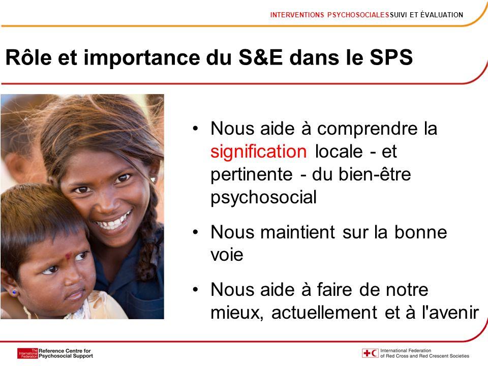 Rôle et importance du S&E dans le SPS