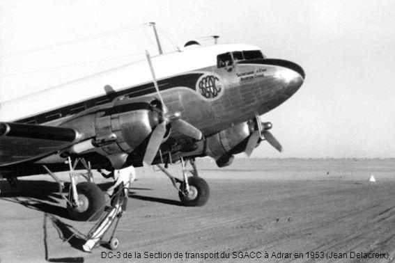 DC-3 de la Section de transport du SGACC à Adrar en 1953 (Jean Delacroix)