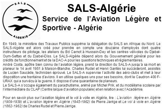 SALS-Algérie Service de l'Aviation Légère et Sportive - Algérie