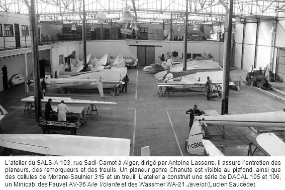L'atelier du SALS-A 103, rue Sadi-Carnot à Alger, dirigé par Antoine Lasserre.