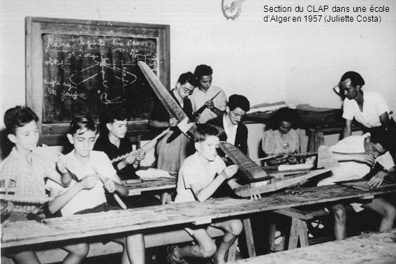 Section du CLAP dans une école d'Alger en 1957 (Juliette Costa)