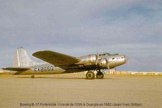 Boeing B-17 Forteresse Volante de l'IGN à Ouargla en 1962 (Jean-Yves Grillon)