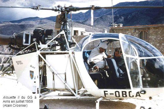 Alouette II du GG à Arris en juillet 1959