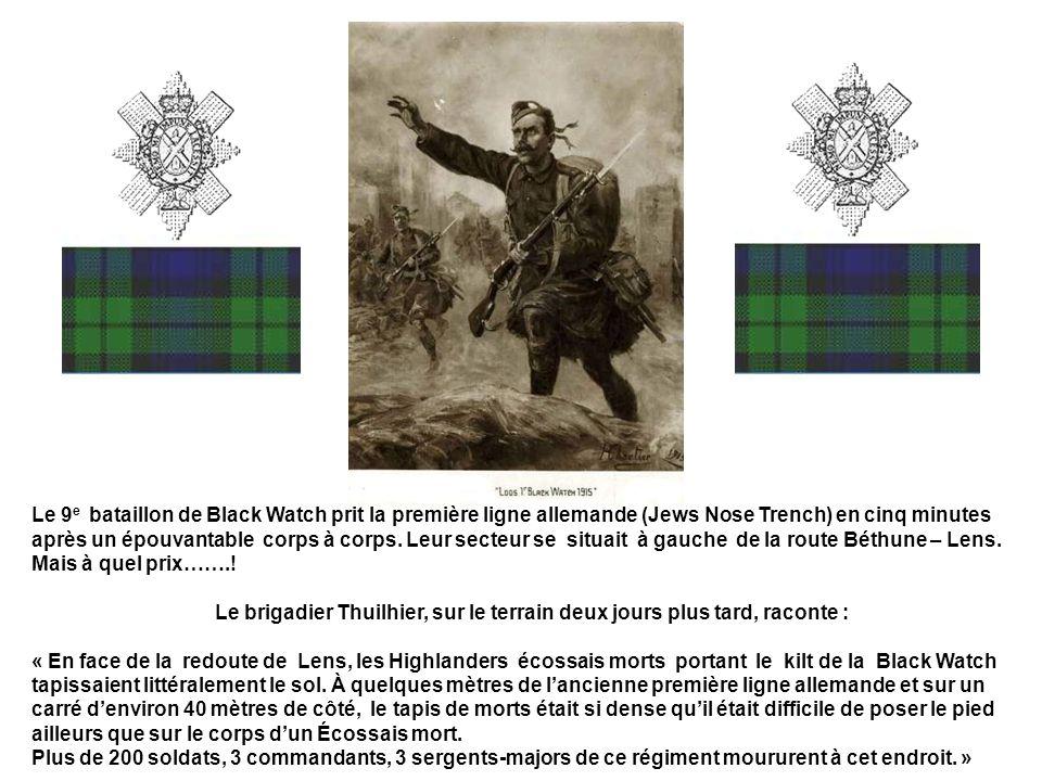Le brigadier Thuilhier, sur le terrain deux jours plus tard, raconte :