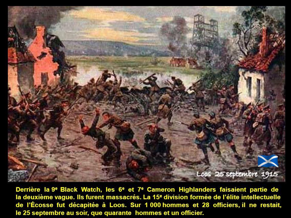 Derrière la 9e Black Watch, les 6e et 7e Cameron Highlanders faisaient partie de