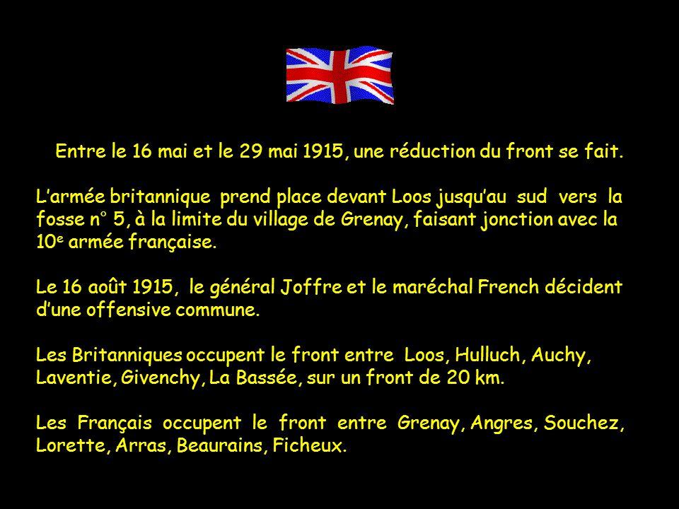Entre le 16 mai et le 29 mai 1915, une réduction du front se fait.