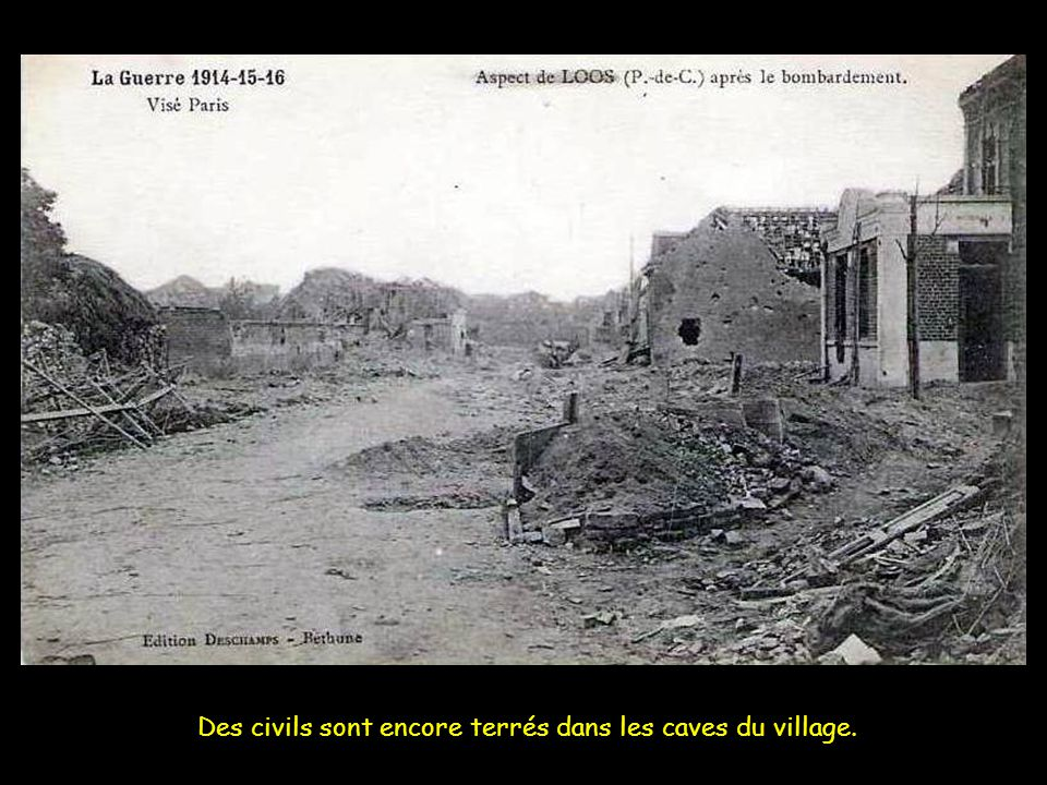 Des civils sont encore terrés dans les caves du village.