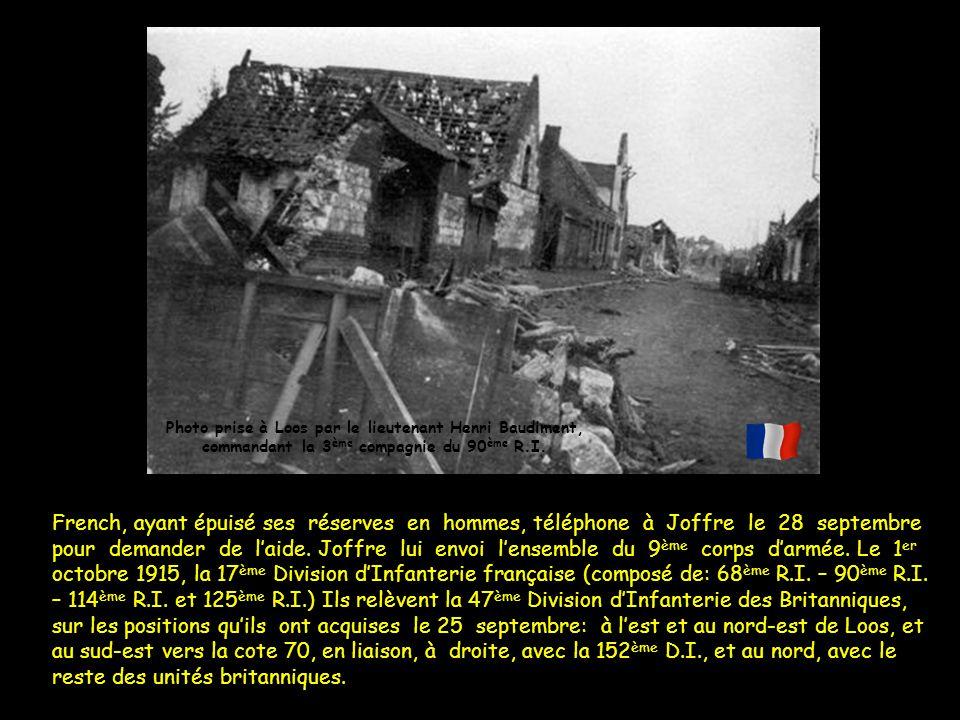 Photo prise à Loos par le lieutenant Henri Baudiment,